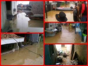 situasi banjir kedua di cililitan kecil dua