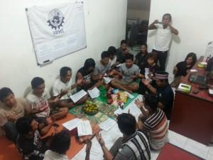 syukuran ABK Afsel di Sekretariat DPN SBMI Jl Pengadegan Utara 1 Nomor 1 Pancran Jaksel
