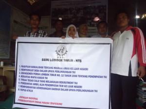 sbmi lotim banner kampanye pencegahan trafficking