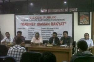 Diskusi Publik Kabinet Idaman Rakyat