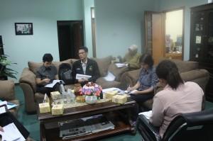 SBMI Cirebon, Institute Perempuan dan Jagat Jabar saat diskusi dengan BP3AKB Prop Jawa Barat